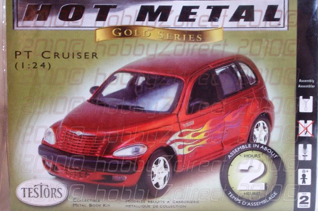 1/24 PT Cruiser Red with Flame Metal Kit